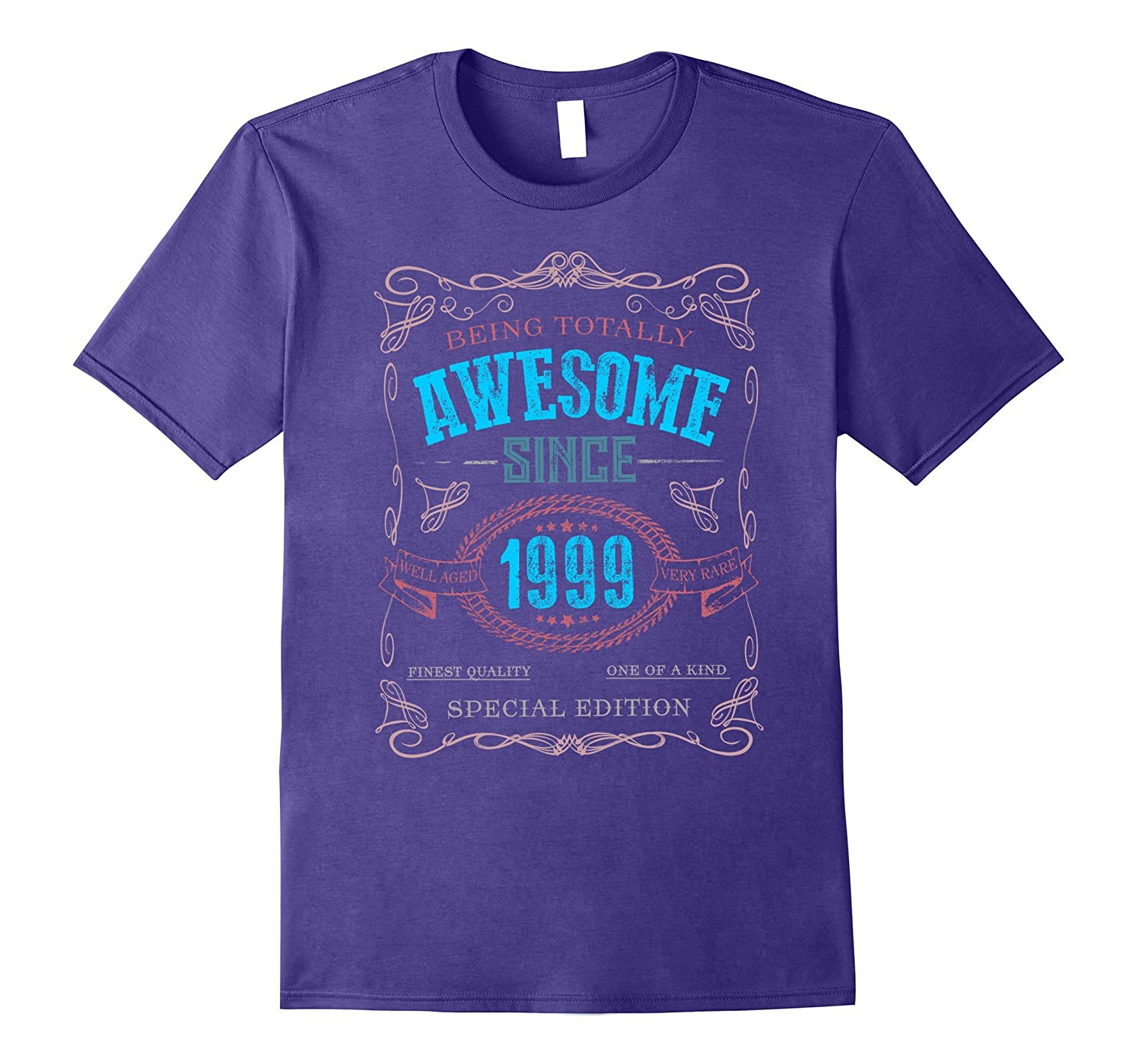 18th Birthday gift shirt Vintage Awesome Since 1999 18 years