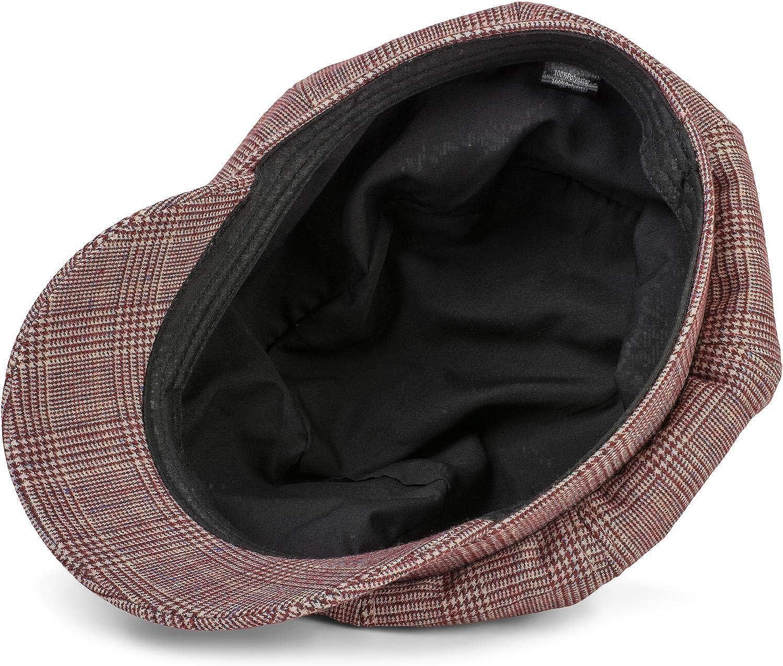 Casquette Traditionnelle 04023068 Casquette de Marin styleBREAKER Casquette Gavroche pour Femmes avec Un Motif /à Carreaux Prince-de-Galles