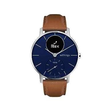 Withings Steel HR Hybrid Smartwatch, Reloj de fitness con frecuencia cardíaca y medición de actividad, 36 mm, Azul y Negro