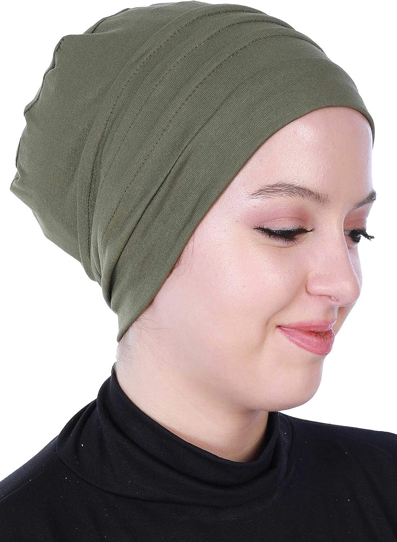 Instant Turban Cotton Head Scarf Lightweight Chemo Headwear Cancer Cap