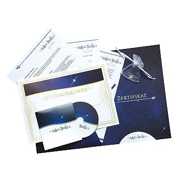 inkl Echte Sterntaufe in Geschenkmappe Luxus Stern kaufen /& verschenken Komplettpaket 3x personalisierbarem Sterntaufzertifikat