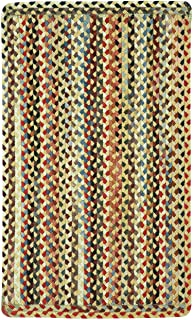 product image for Capel Rugs St. Johnsbury Vertical Stripe Rectangle Braided Area Rug, 9 x 9, Wheat