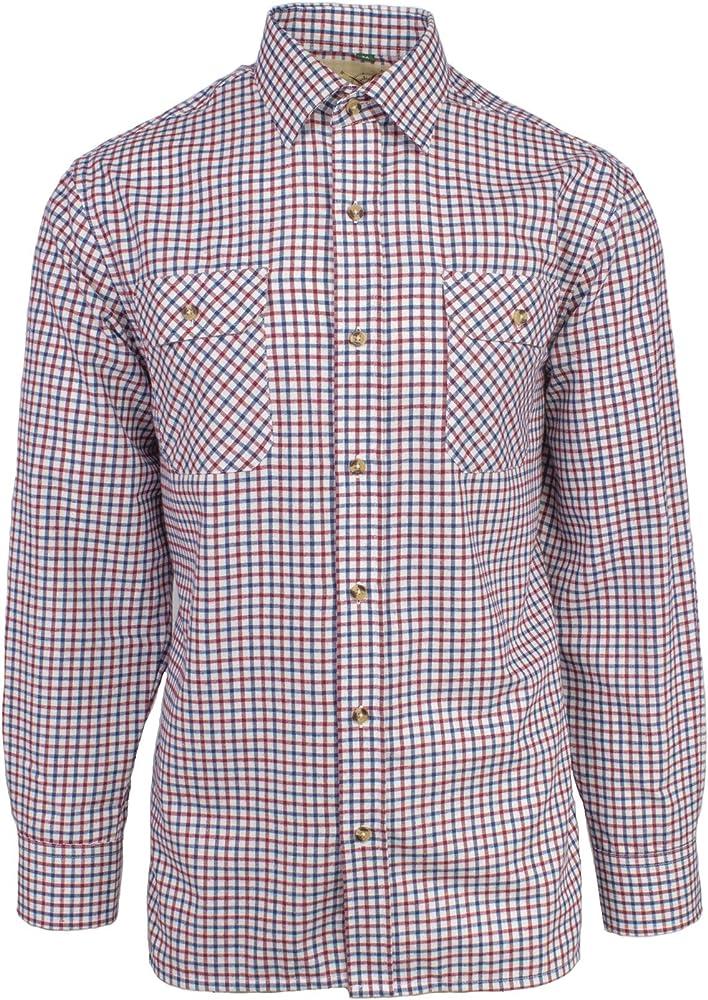 Tattersall Country Check Camisa de manga larga – Rich Easycare tela cepillada Rojo rosso Medium: Amazon.es: Ropa y accesorios