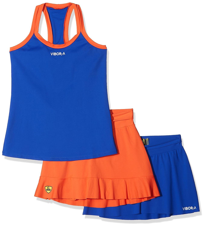 VIBOR-A Look 4 Conjunto de tenis, Mujer, Multicolor (Azul ...
