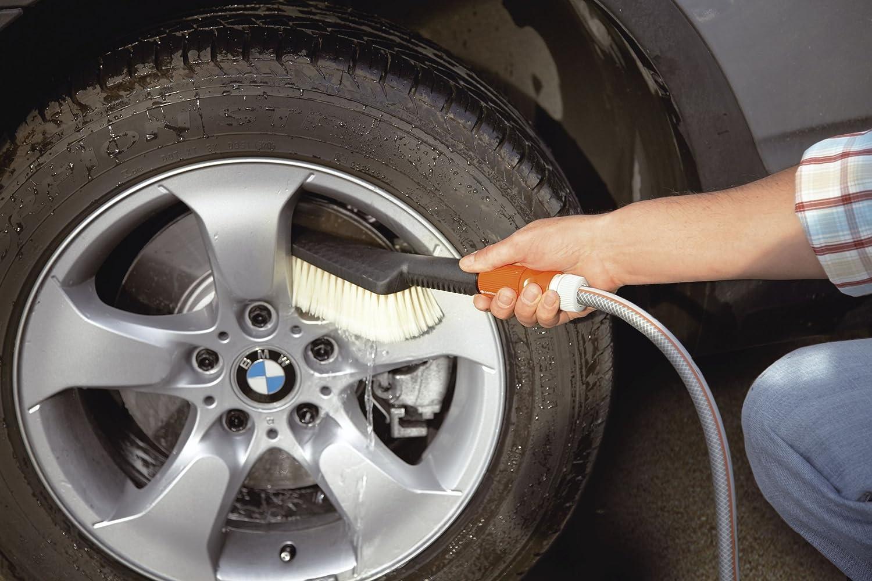 988-20 regulierbare Wassermenge Gardena Handschrubber: Handb/ürste f/ür robuste Oberfl/ächen nicht kompatibel mit Gardena Wasserstielen