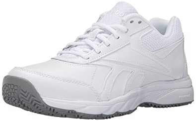 ee9e1622d72 Reebok Women s Work N Cushion 2.0 Walking Shoe White Flat Grey 5 ...