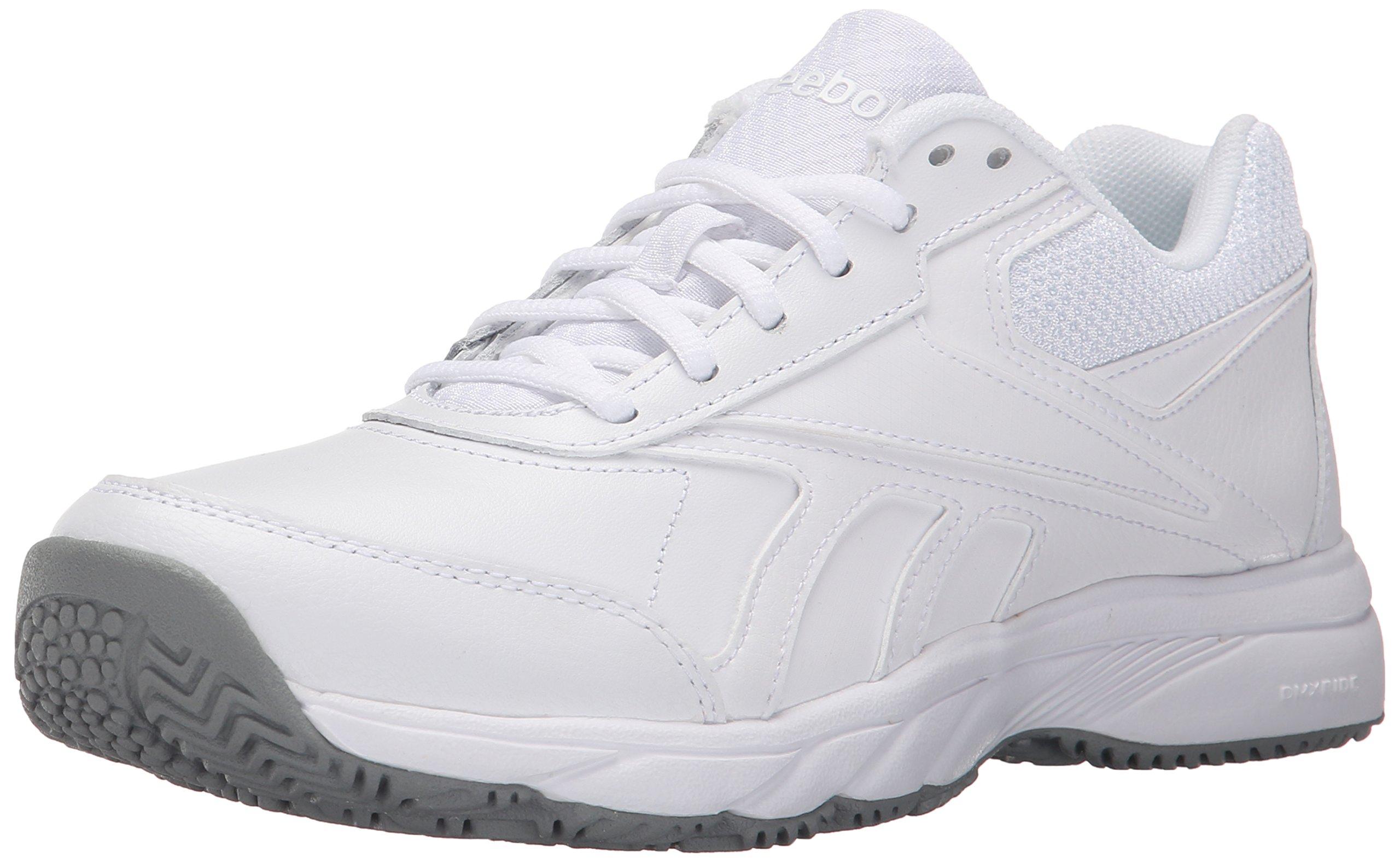 Reebok Women's Work N Cushion 2.0 Walking Shoe, White/Flat Grey, 9 M US