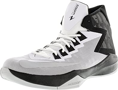 d9a88e255fd Nike New Men s Zoom Devosion Basketball Shoe White Black 14  Buy Online at  Low Prices in India - Amazon.in