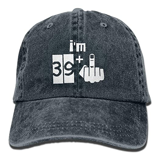 53dbbec8549 Image Unavailable. Image not available for. Color  HATS NEW I m 39 Plus 1 40th  Birthday Cotton Adjustable Denim Hat Baseball Caps