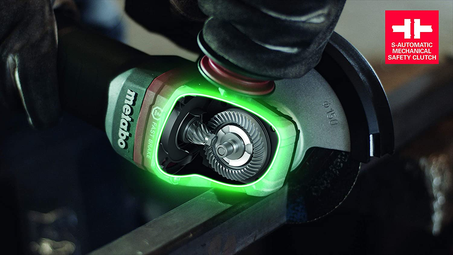 4 1//2 Metabo WP9-115 Quick 8.5 Amp 10,500 rpm Angle Grinder with Non-locking Paddle Switch