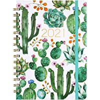 """Planner 2021 - Weekly & Monthly Planner Jan - Dec, 8.5"""" x 6.4"""", Flexible Hardcover, Strong Twin - Wire Binding, Thick…"""