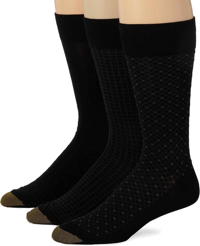 Gold Toe Mens Crew Fashion Patterned Dress Sock