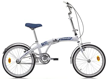 20 Pulgadas Cinzia Flexy Bike Bicicleta plegable, blanco-azul