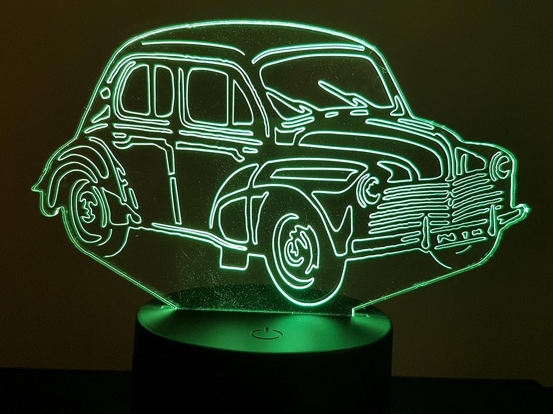 Lampe 3D Motif: Renault 4CV 6 moustaches