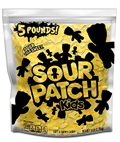 Amazon Com Sour Patch Kids Yellow Lemon Soft Chewy Candy 5 Lb Bag Grocery Gourmet Food