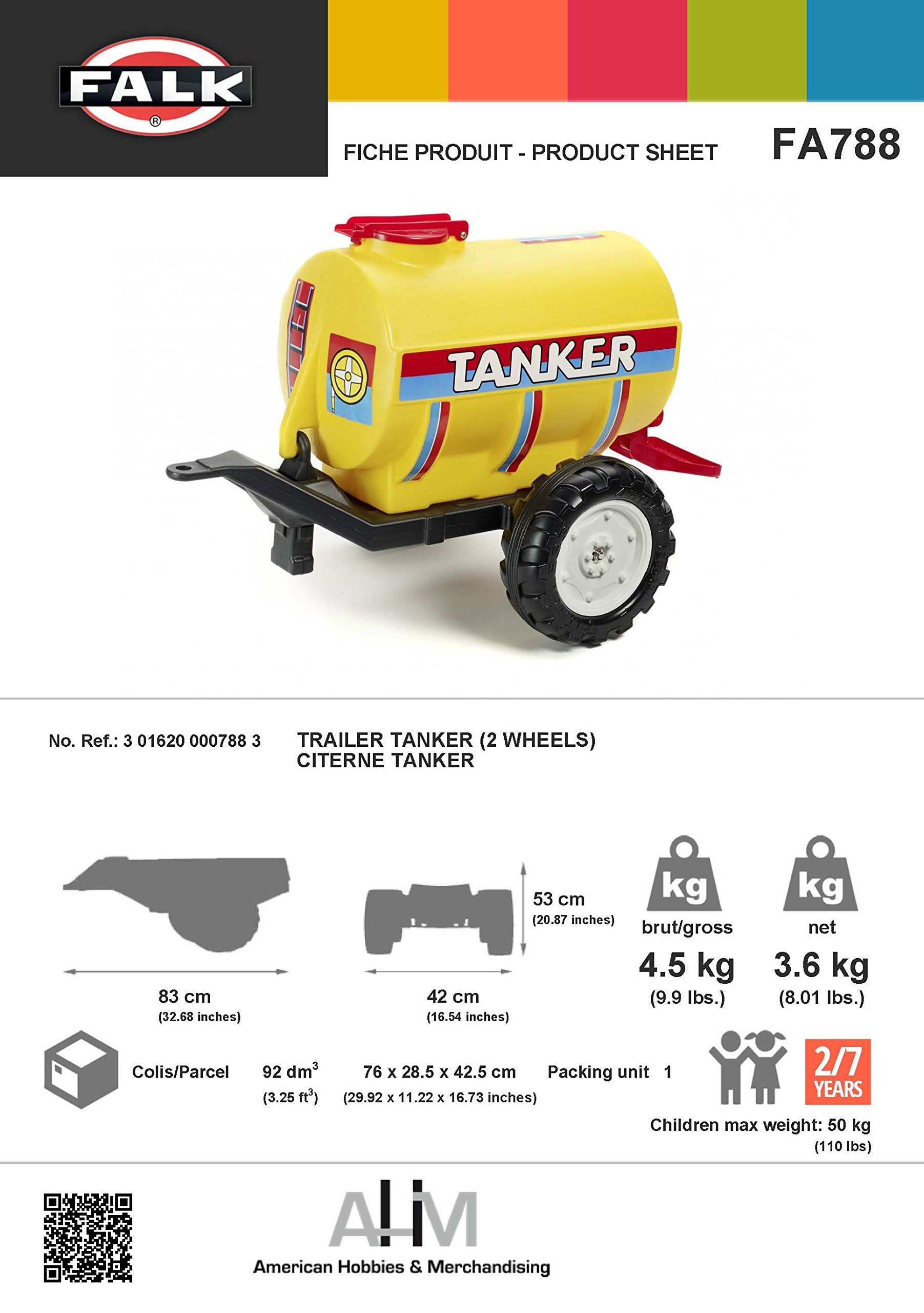 Falk Tanker Ride-on Trailer by Falk (Image #1)