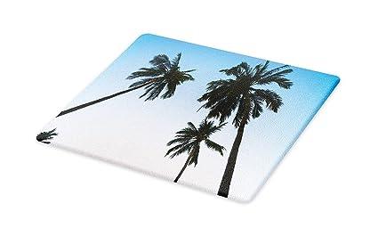 182f0115dc58f Amazon.com: Lunarable Palm Tree Cutting Board, Vintage Filtered ...