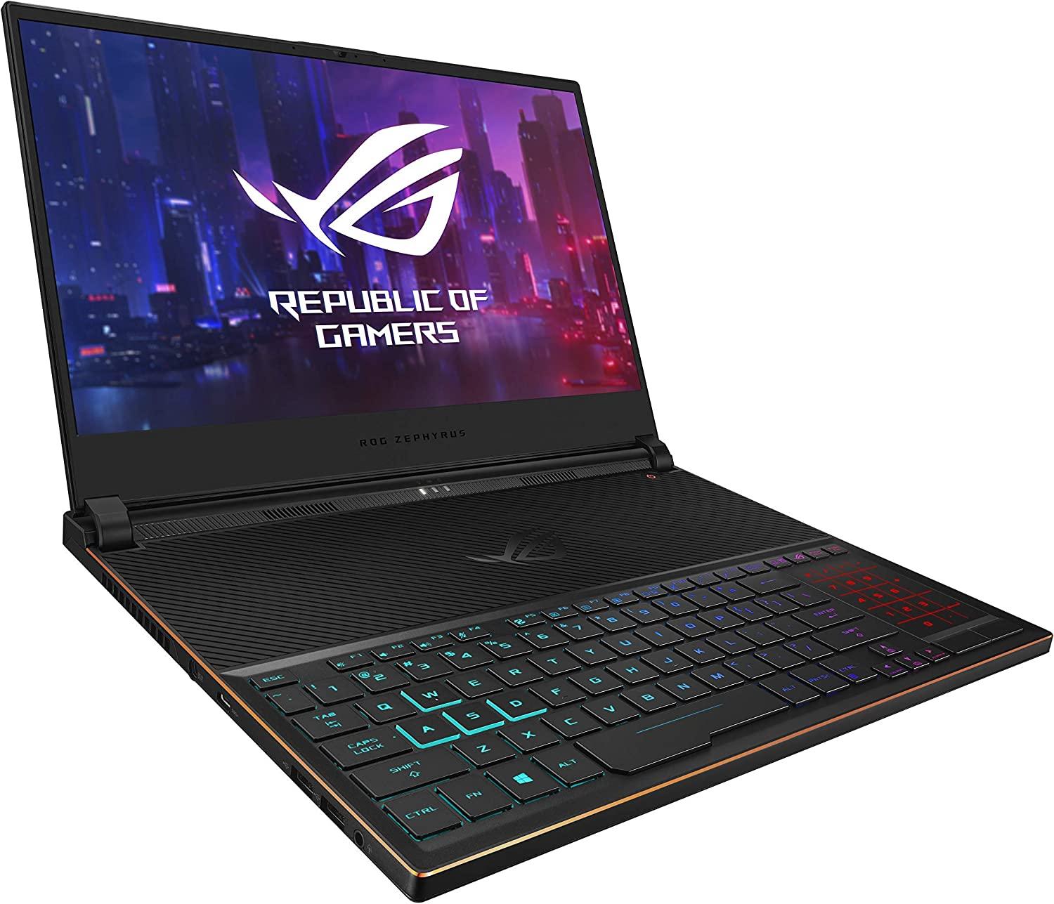 ASUS ROG Zephyrus S Ultra Slim Gaming Laptop, 15.6 144Hz IPS Type FHD, GeForce RTX 2070, Intel Core i7-8750H, 16GB DDR4, 512GB PCIe NVMe SSD Windows 10 GX531GW-AS76 (Renewed)