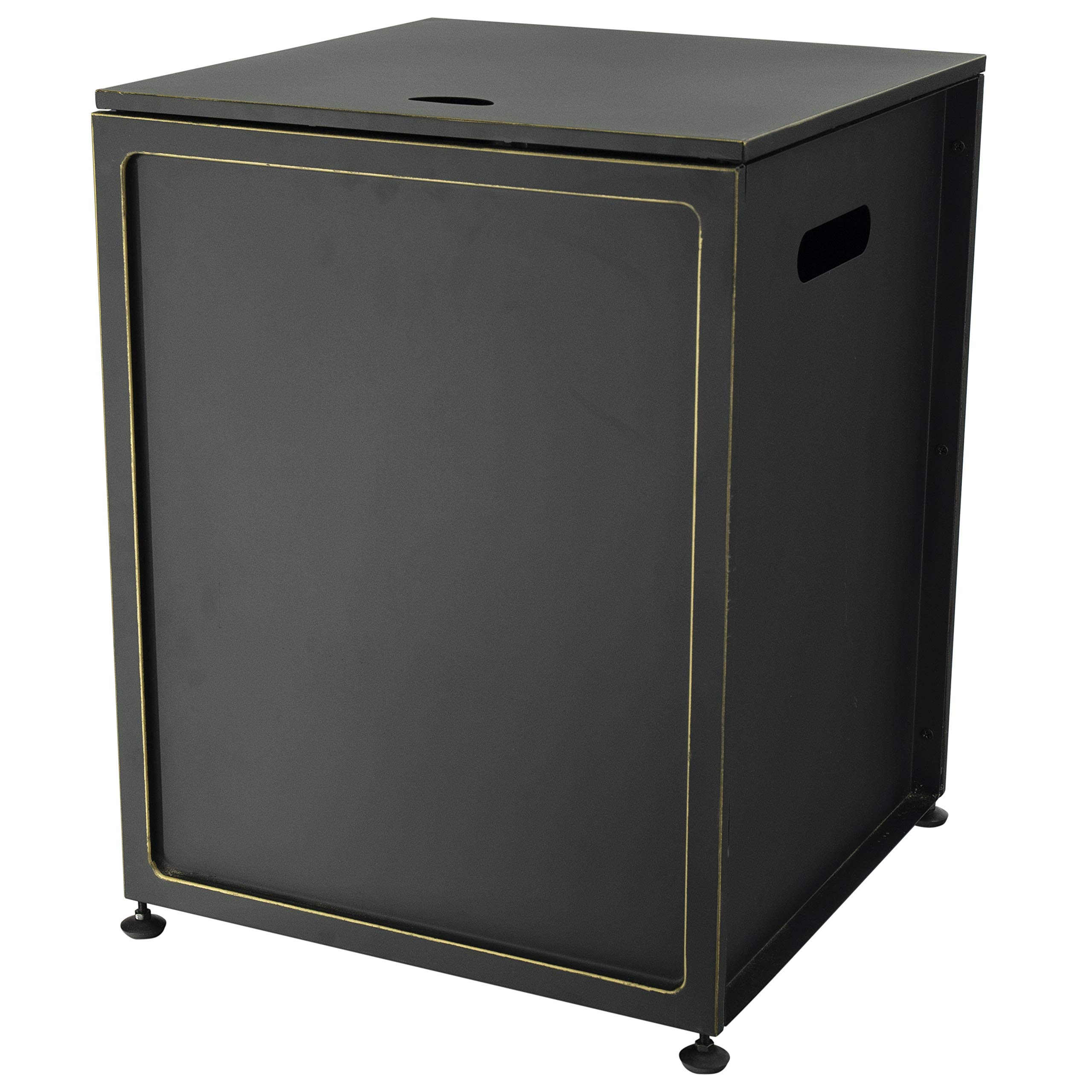 Bond Manufacturing 67635 Cover Hideaway Table for Gas Fire Pits, Suitable for Any 20lb Propane Tanks, Black by Bond Manufacturing