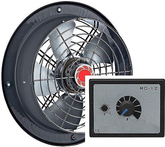 250mm Ventilador industrial con 500W Regulador de Velocidad ...