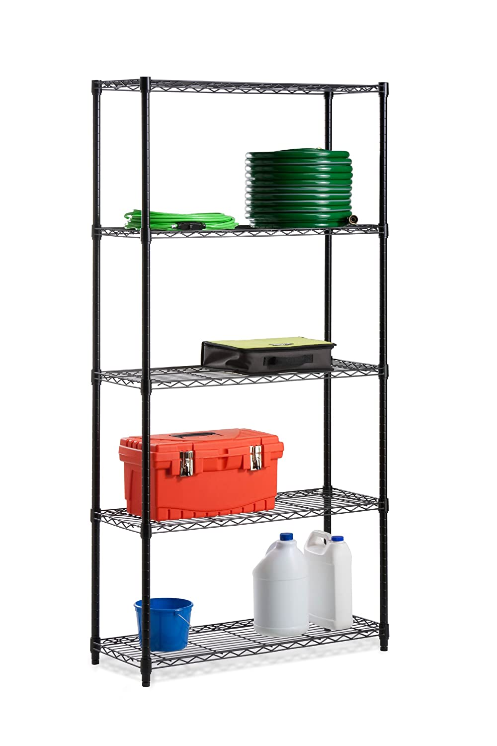Amazon.com: Honey-Can-Do SHF-01442 Adjustable Industrial Storage ...