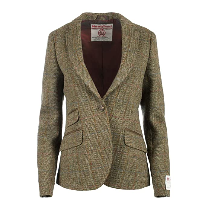 34 Abbigliamento Harris Donna Tweed Giacca it C001T Amazon 6wa7qB