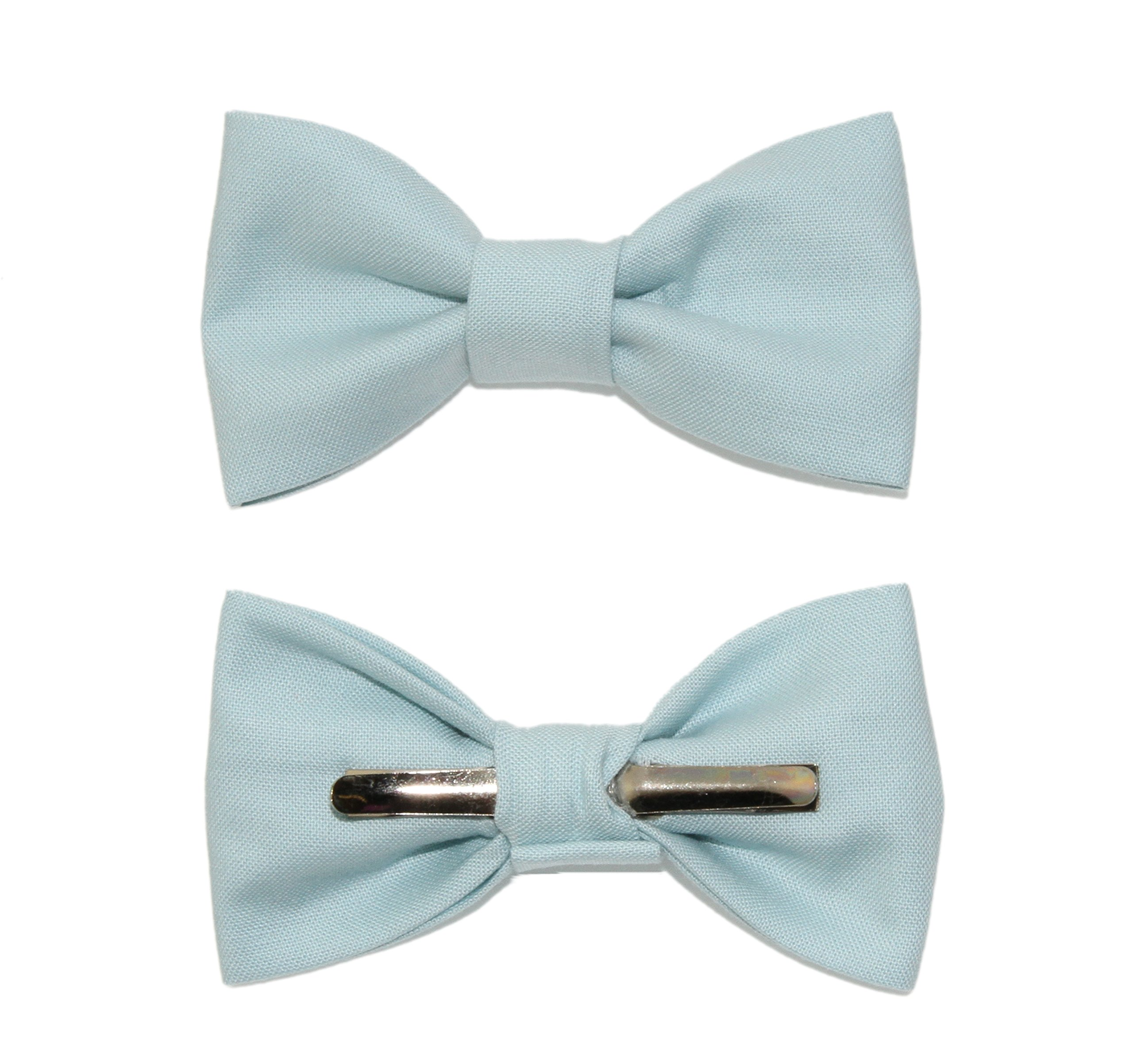 Toddler Boy 4T 5T Dusty Blue Clip On Cotton Bow Tie Bowtie by amy2004marie