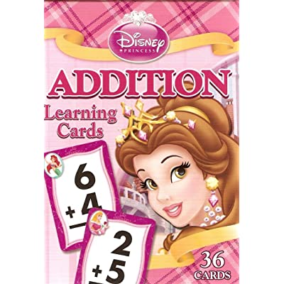 Disney Princess Addition Learning/Flash Cards (Lite Pink Box): Toys & Games