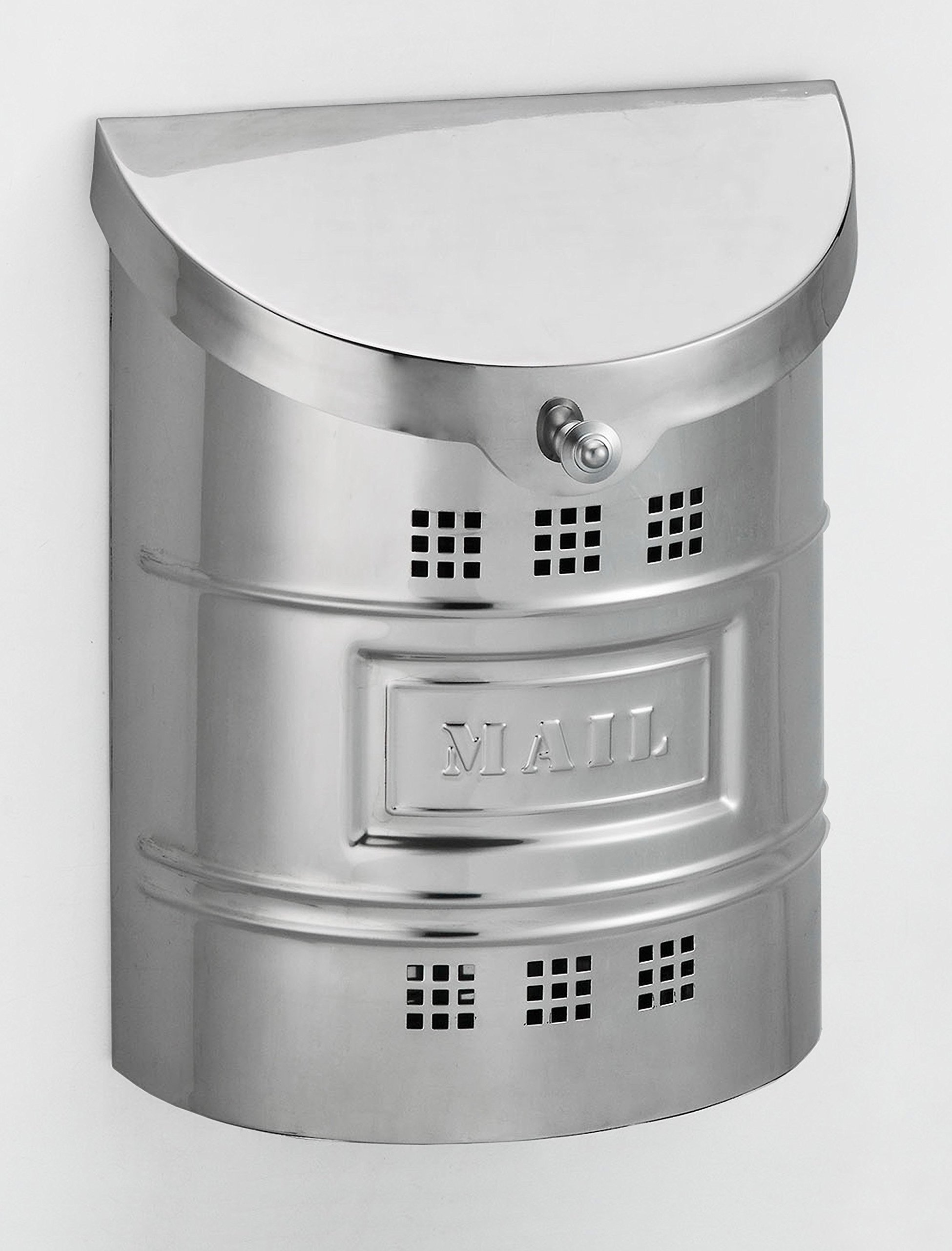Ecco E2M Large Polished Stainless Steel Wall Mailbox w/ Polished Label