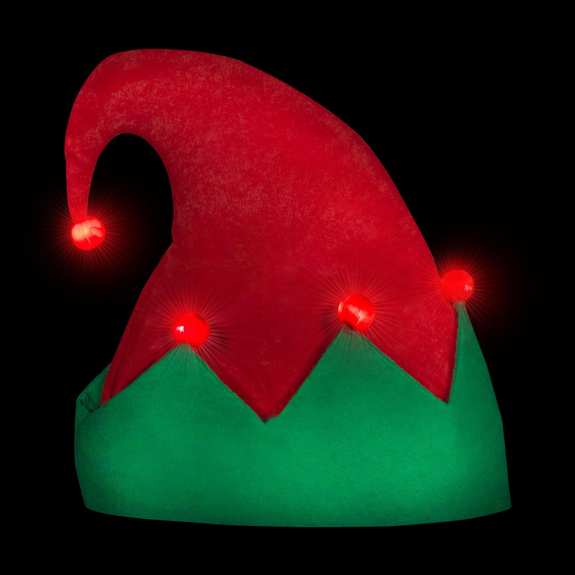 LED Light Up Festive Christmas Santa Elf Hat - Family 12 Pack by Windy City Novelties (Image #2)
