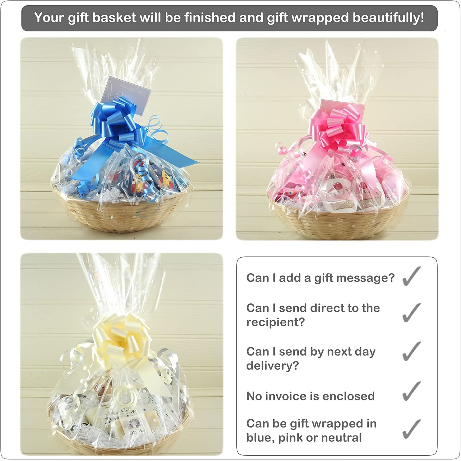 Double Deluxe Twin New Baby Gift Basket for Twin Girl//boy