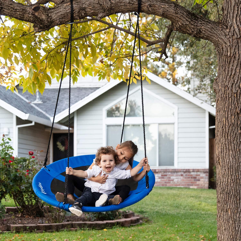 Skipdaloo Saucer Tree Swing for Outside - 40'' Hanging Round Swing for Kids, Easy Install, Steel Frame. by Skipdaloo (Image #5)