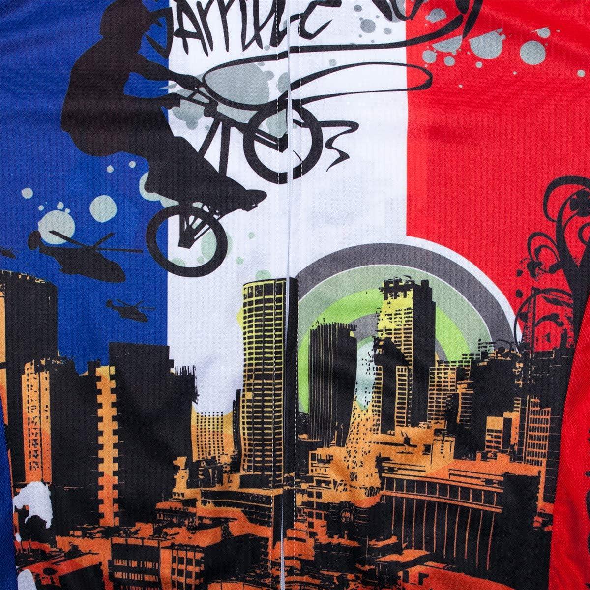 Maillot de Ciclismo para Hombre de Manga Larga Transpirable para oto/ño