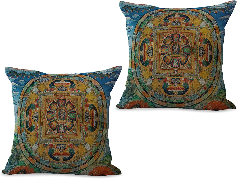cushion cover Tibetan Buddhism mandala decorative pillow cover US SELLER
