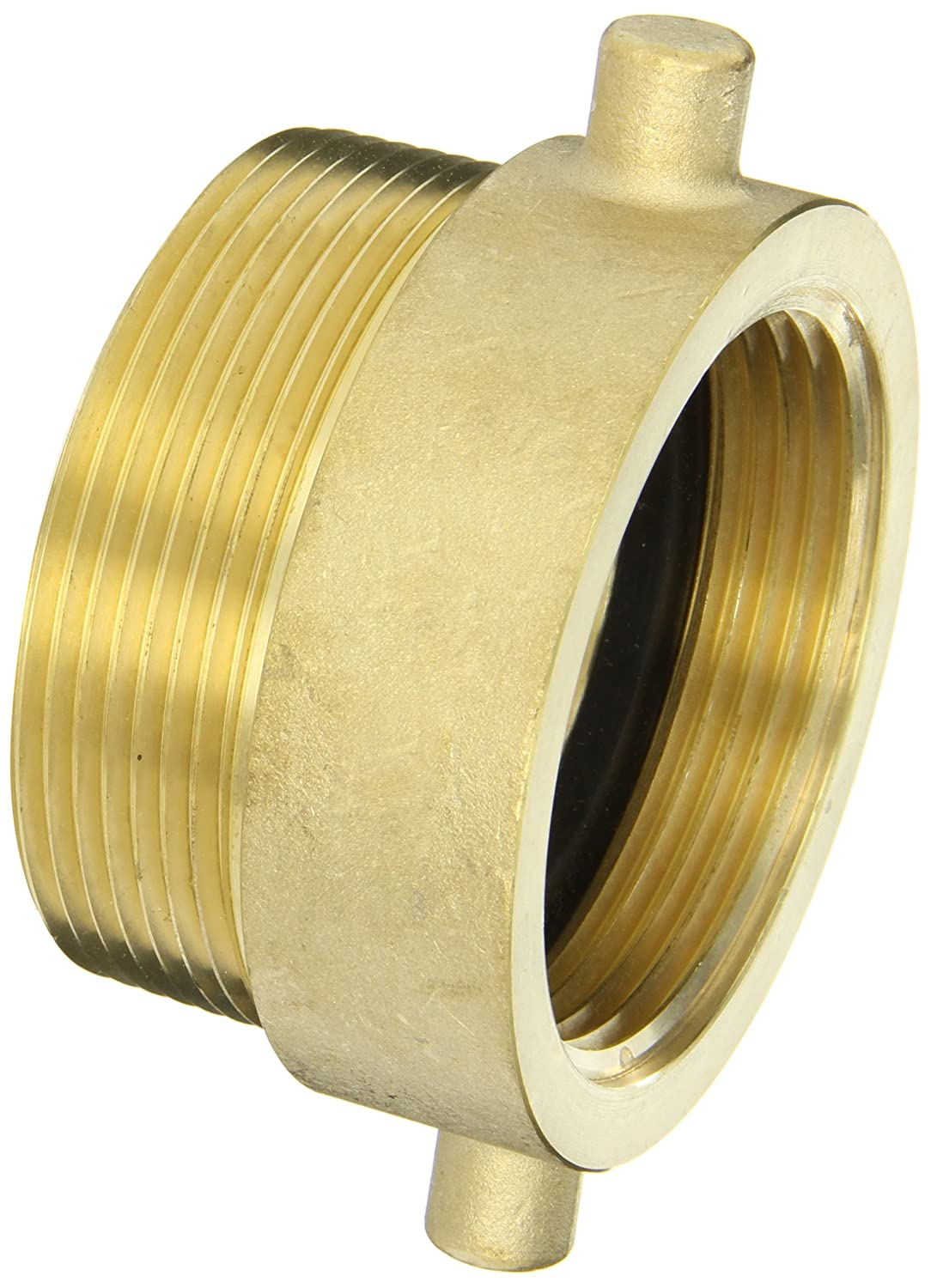NH Dixon Valve HA2530T Brass Fire Equipment Hydrant Adapter with Pin Lug Female x 3 NPT Male 2-1//2 NST
