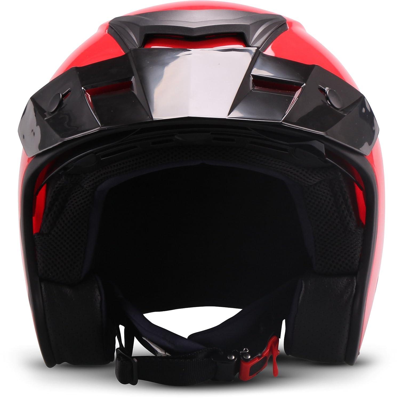 MOTO HELMETS Casque de moto Rouge Taille XS 53-54 cm
