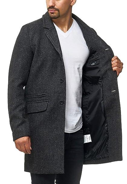 Wollmantel Mantel vorne Mantel Stehkragen langer Bis Langarm Mantel Herren Button Navy 2019 uOkPXZi