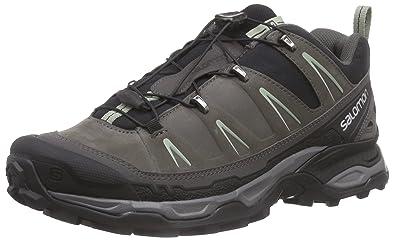 Salomon Men's X Ultra LTR Hiking Shoe, Black/Autobahn/Green Clay, 7