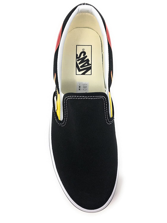 Vans Skate Unisex Classic (Checkerboard) Slip-On Skate Vans Shoe B01NAVJUZK 10.5 M US Women / 9 M US Men|Flame Black e7bfd6