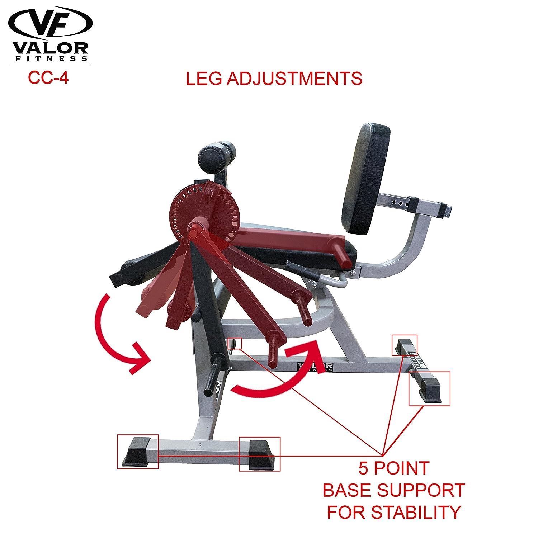 Amazon.com : Valor Fitness CC-4 Adjustable Leg Curl Machine : Leg ...