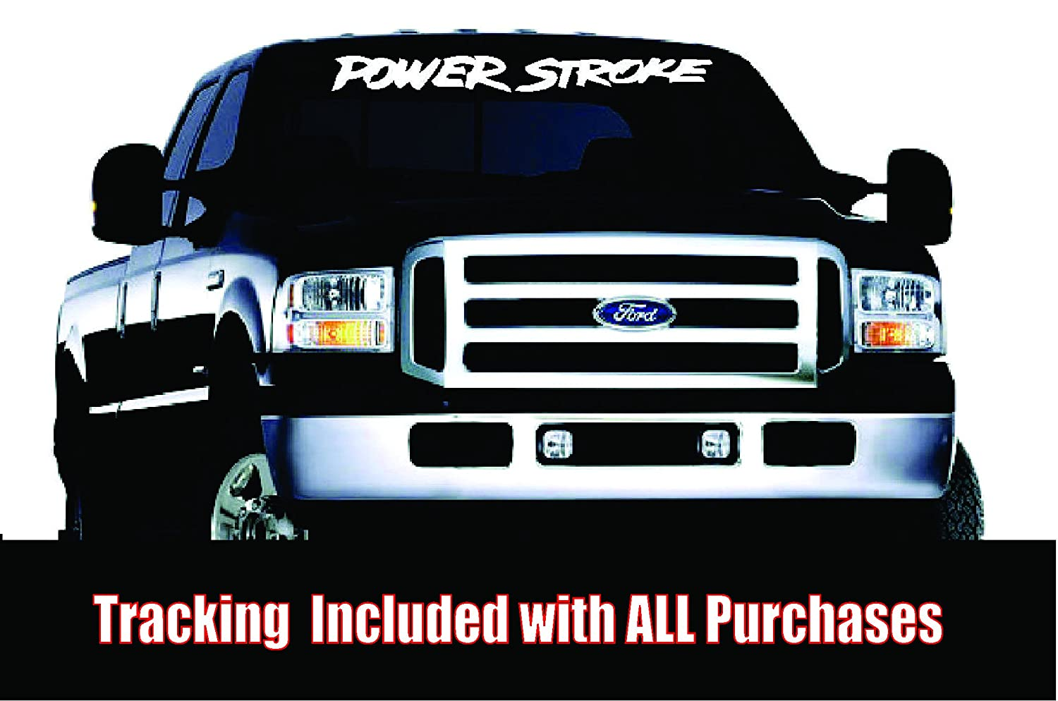 Amazoncom Powerstroke Windshield Banner Everything Else - Front window decals for trucks