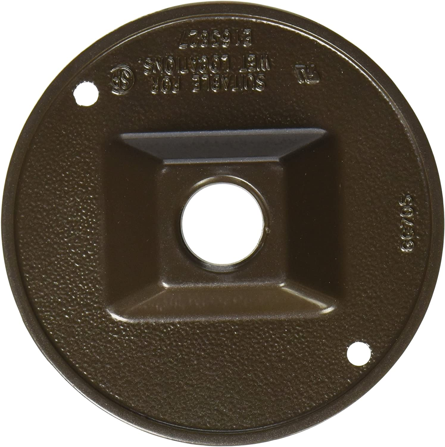 Die Cast Zinc Hubbell-Raco 5193-7 3-Hole Cluster Lamp Holder Cover 4 in Dia Bronze