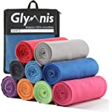 Glymnis Microfiber Towel Sports Towel Travel Beach Towel with Ultra Absorbency and Quick Drying for Gym Beach Swimming Backpacking