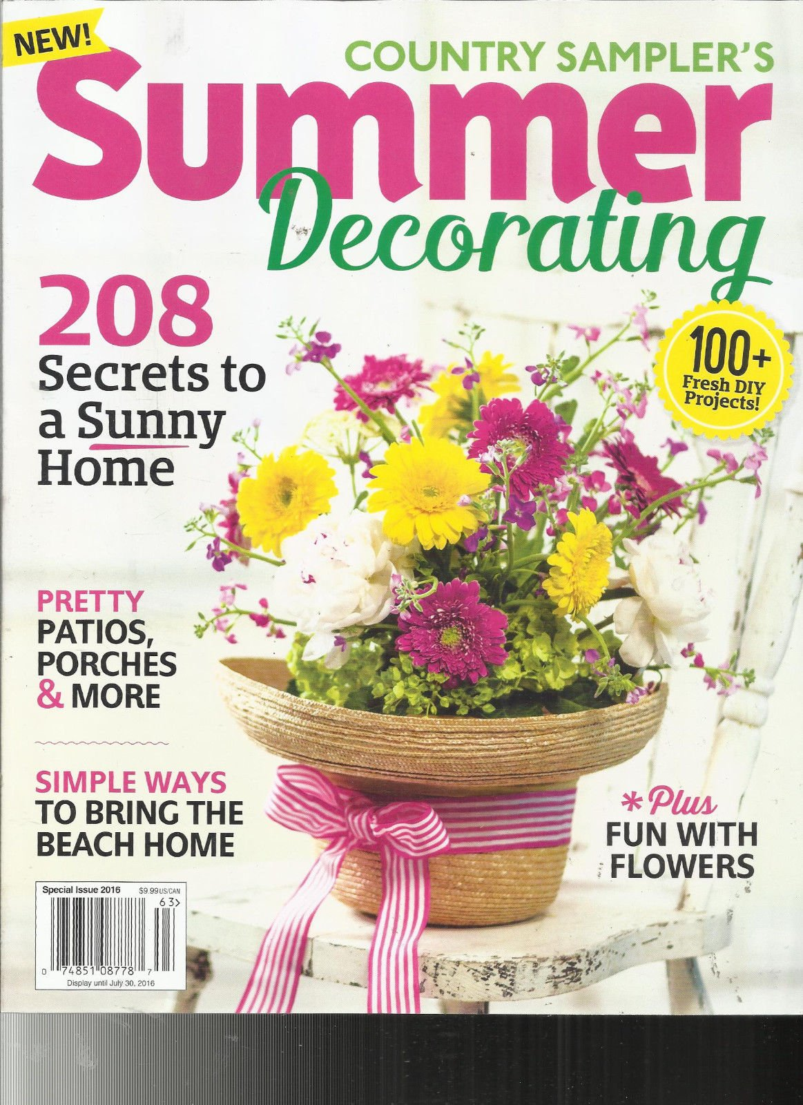 Country Sampler's Summer Decorating 2016