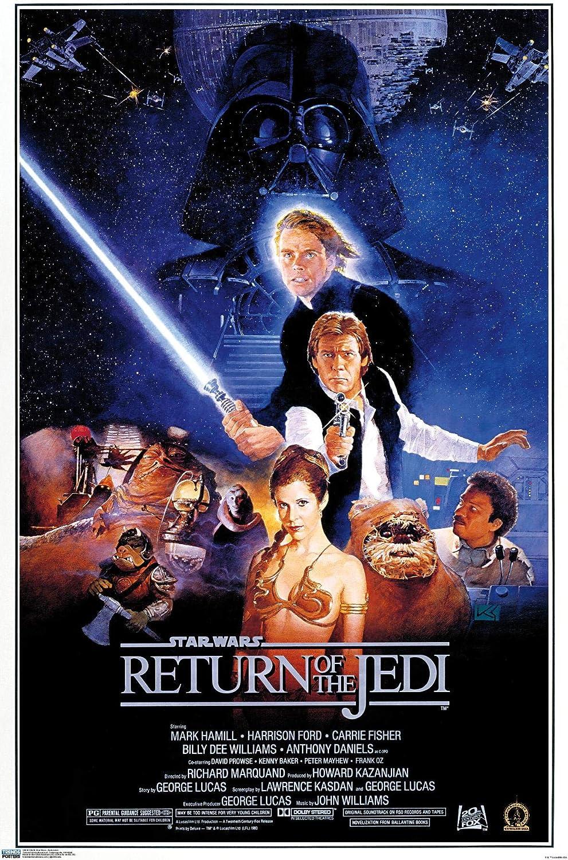 Amazon Com Trends International 24x36 Star Wars Return Of The Jedi One Sheet 24 X 36 Unframed Version Posters Prints