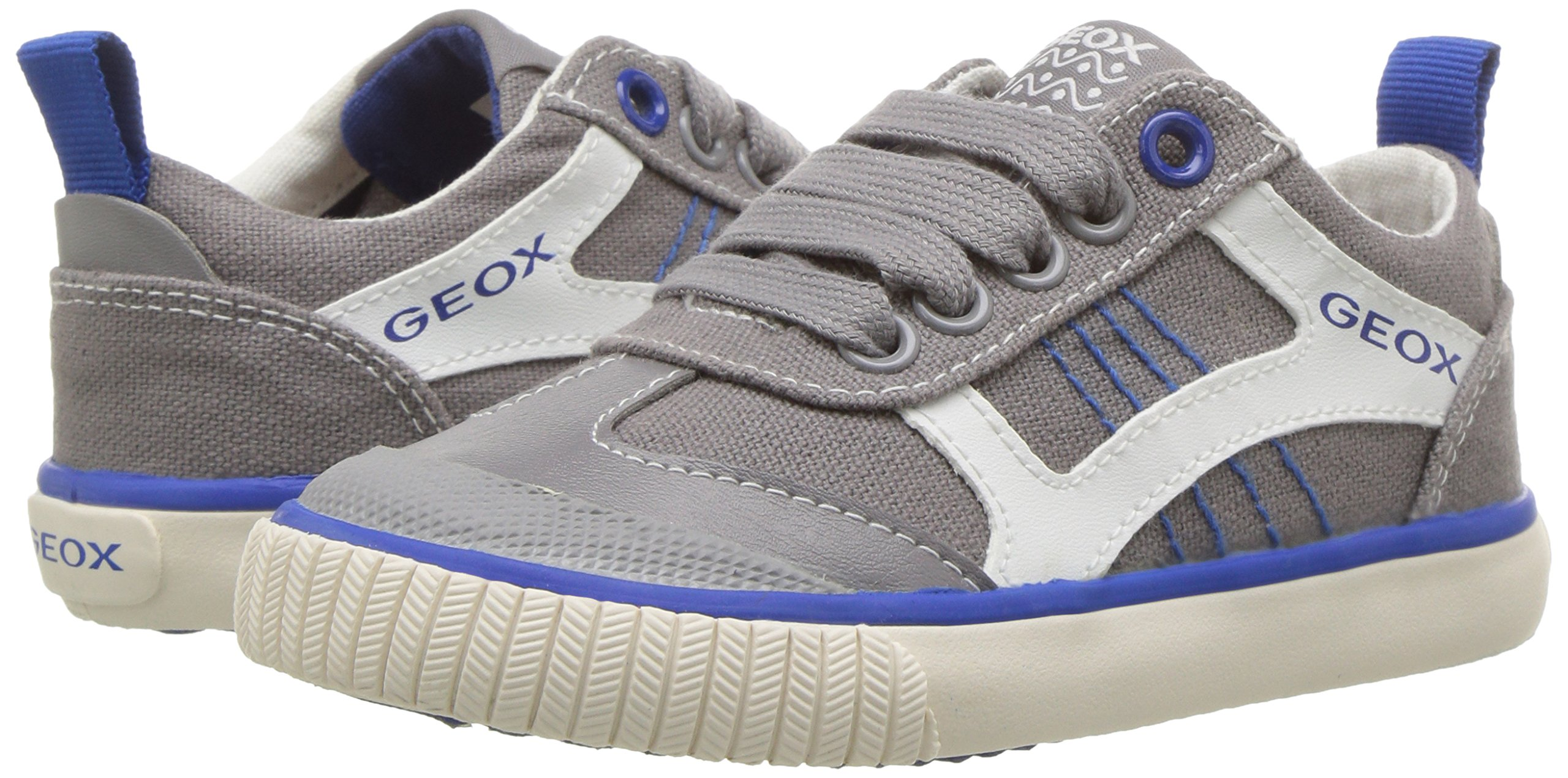 Geox Boys' JR KIWIBOY 89 Slip-On Grey/Royal 36 EU/4 M US Big Kid by Geox (Image #6)