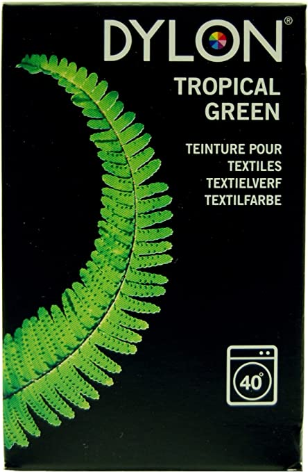 Dylon - Tinte para teñir Tejidos a máquina (200 g), Color Verde