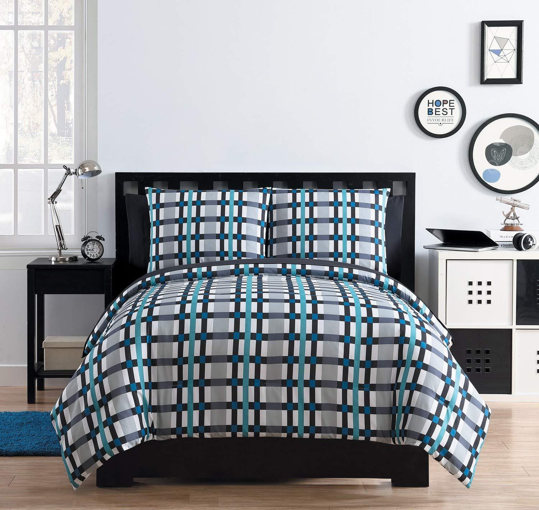 VCNY Home Emmitt Bed-in-a-Bag, Twin, Blue Victoria Classics EM4-BIB-TWIN-IN-BLUE1