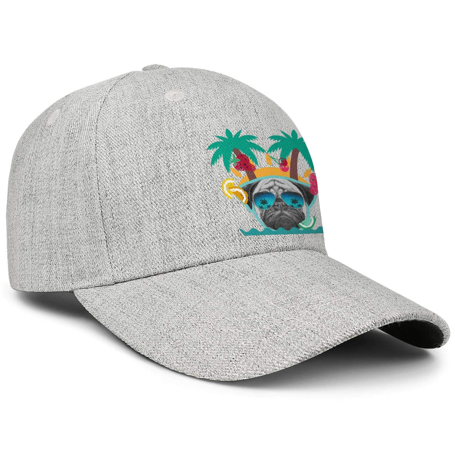 Trendy Apparel Shop Durable Adjustable Floatable Summer Visor Hat with Palmtree Snap Charm