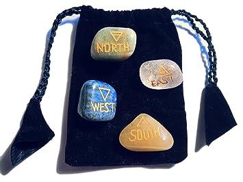 Piedras tambor de la 4 elementos para yoga Reiki Feng Shui ...